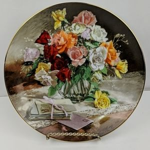 """""""Roses""""  1988 Collector Plate Bradford Exchange"""